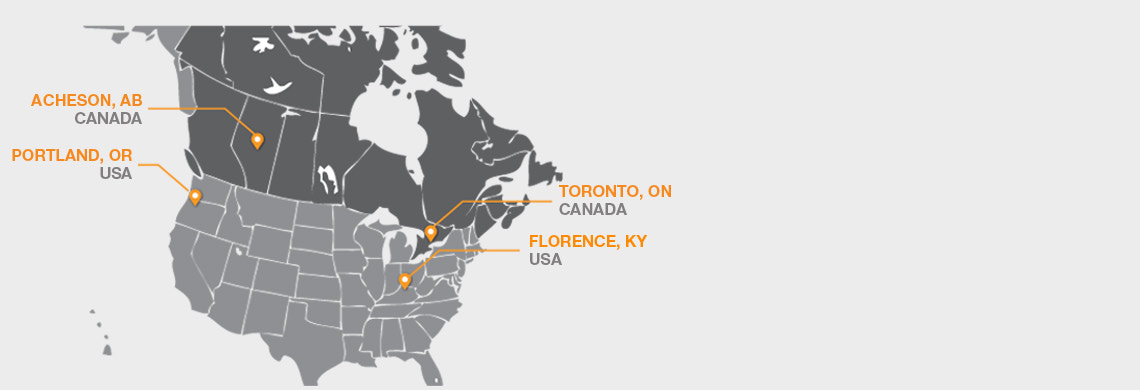 DISTRIBUTION CENTERS ACROSS NORTH AMERICA